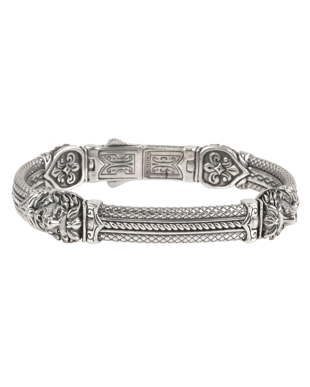 Konstantino Mens Aeolus Athena Sterling Silver Bracelet MKXTlCm