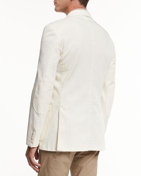 Soft Stretch-Cotton Sport Jacket, Light Beige