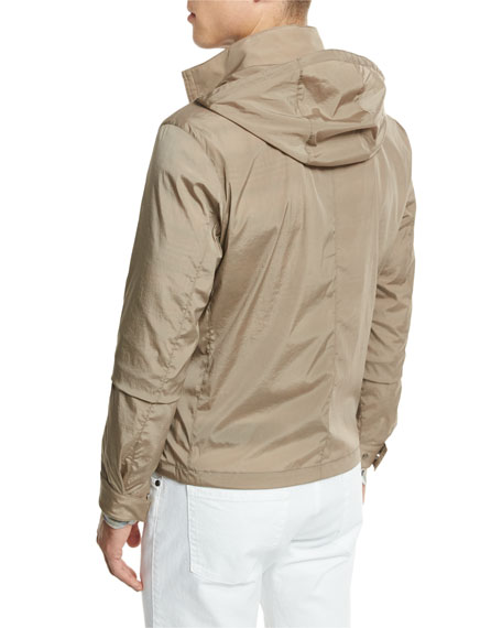 Hooded Wind-Resistant Jacket, Sand