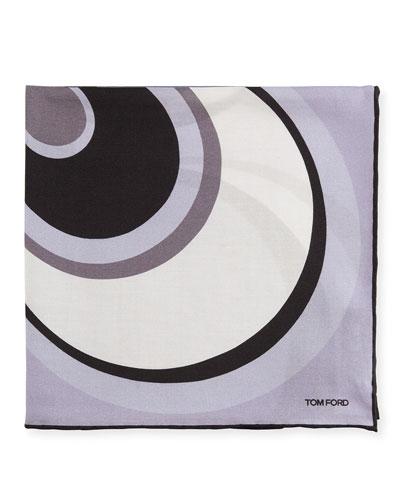 Circle Swirl Pocket Square, Lavender