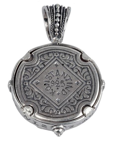 Men's Sterling Silver & Copper Alexander the Great Pendant