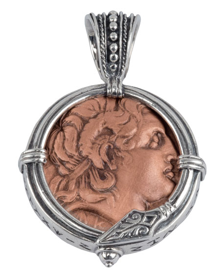 Men's Sterling Silver & Copper Alexander the Great Pendant