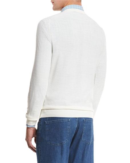 Textured Crewneck Sweater, Natural