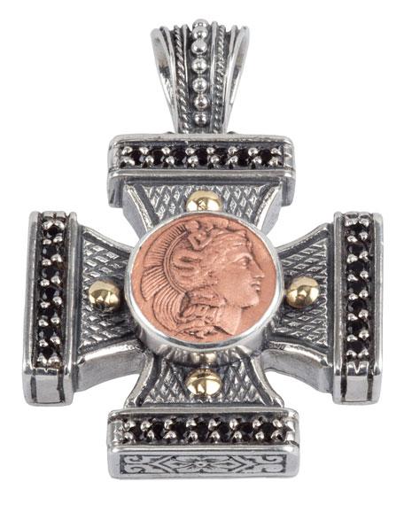 Konstantino Men's Aeolus Athena Cross Pendant w/Spinel