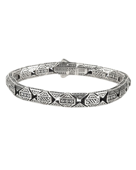 Men's Aeolus Athena Sterling Silver Bracelet
