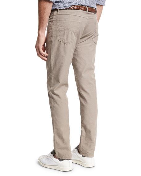 Canvas Five-Pocket Pants, Brown