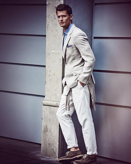 Linen-Cotton Raglan Sweatshirt