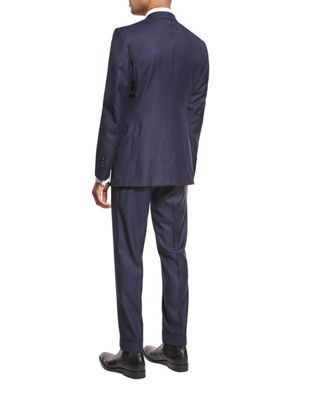 O'Connor Base Windowpane Two-Piece Suit, Navy/Gray