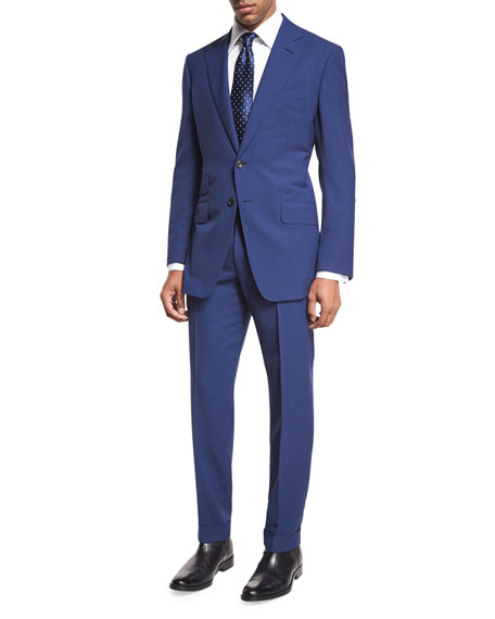 O'Connor Base Fresco Two-Piece Suit, Bright Blue