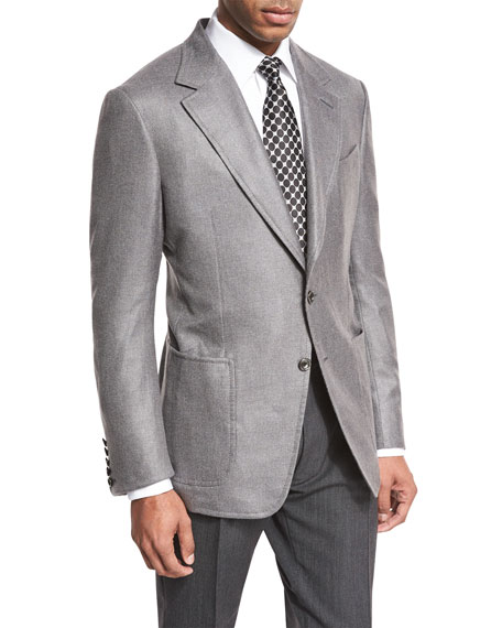 TOM FORD Shelton Base Hopsack Two-Button Sport Coat,