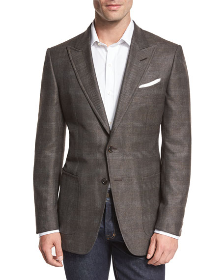 TOM FORD O'Connor Base Glen Plaid Two-Button Sport