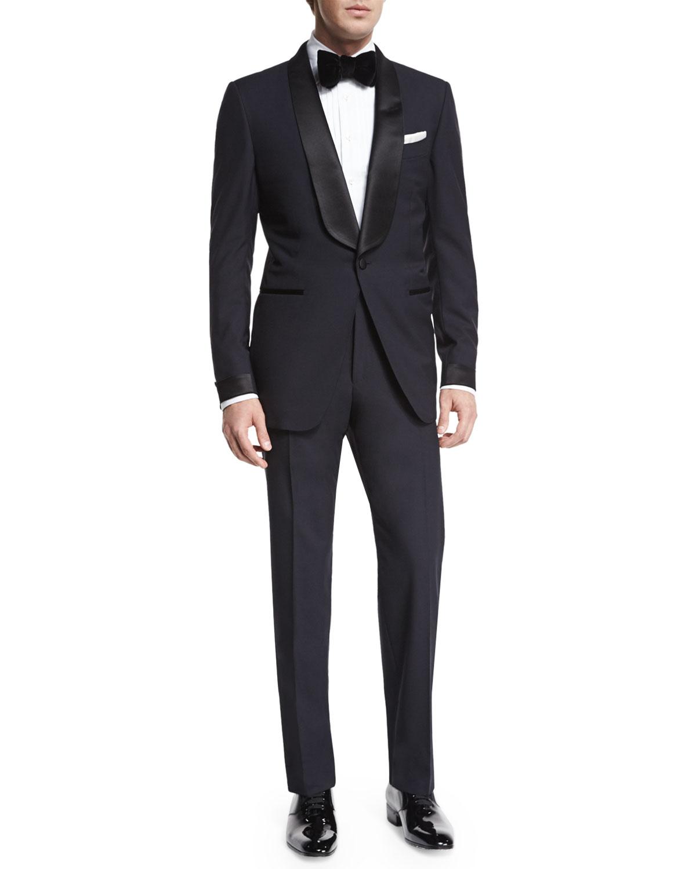 7ffb986e33c Tom Ford O Connor Base Shawl Collar Tuxedo Navy Neiman Marcus