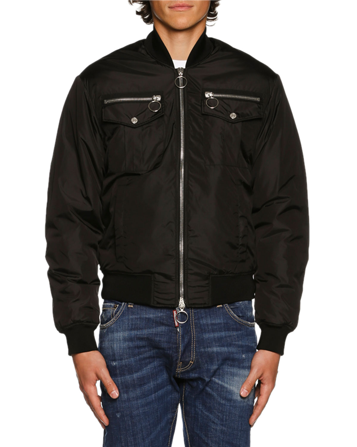 3ff20ac05ea Dsquared2 Nylon Bomber Jacket