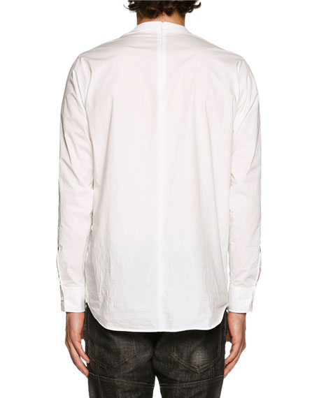 Dan Shirting Long-Sleeve T-Shirt, White