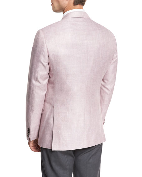 Melange Two-Button Sport Coat, Pink
