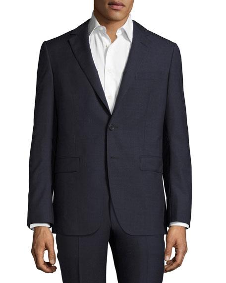 Lanvin Attitude Micro-Check Super 100s Wool Sport Coat,