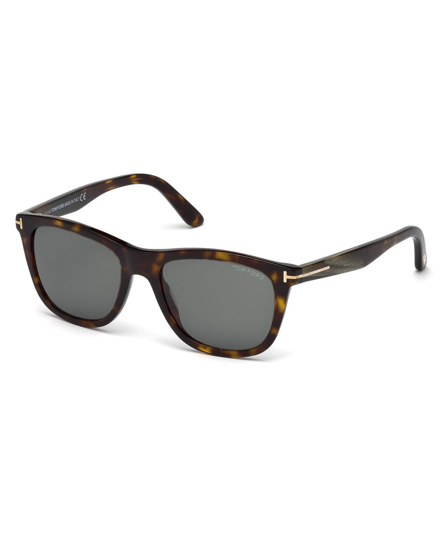 554f88e69df TOM FORD Andrew Square Shiny Acetate Sunglasses