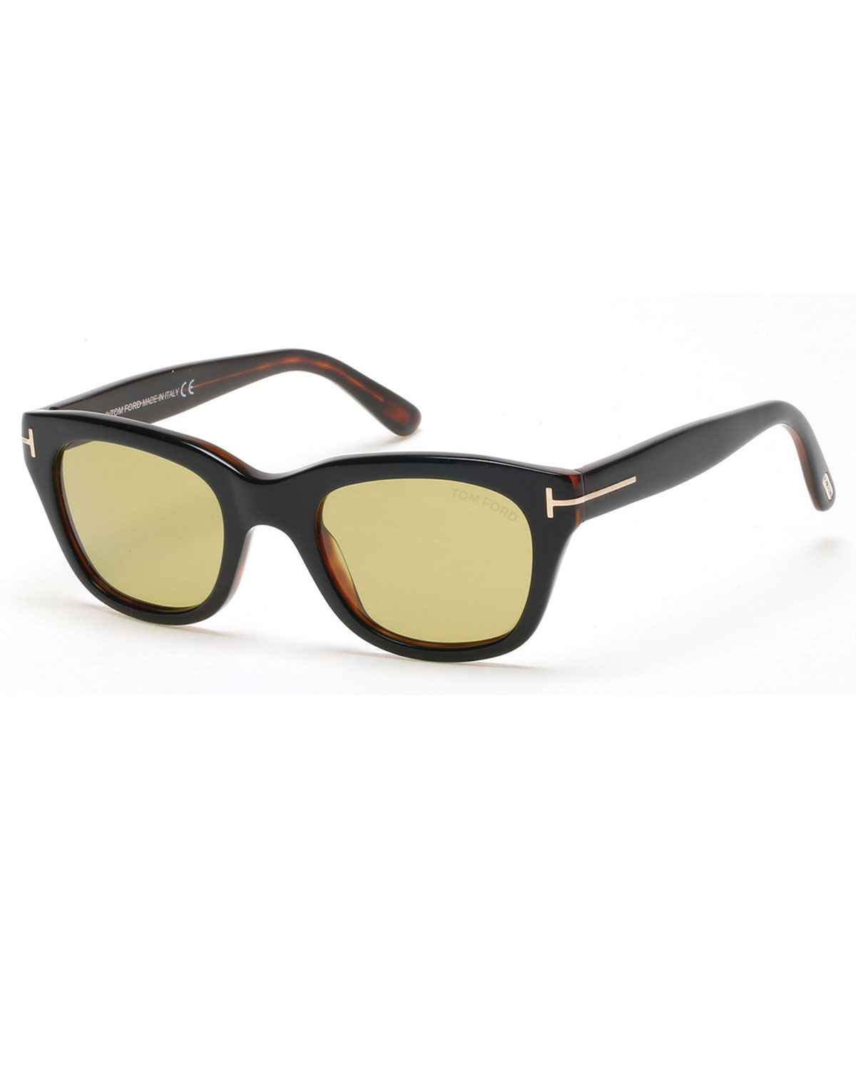d2afb24332c TOM FORD Snowdon Rectangular Acetate Sunglasses