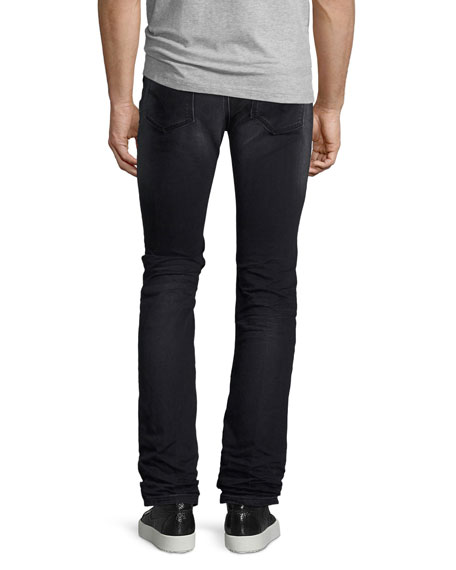 Basic Slim-Straight Denim Jeans, Gray Wash