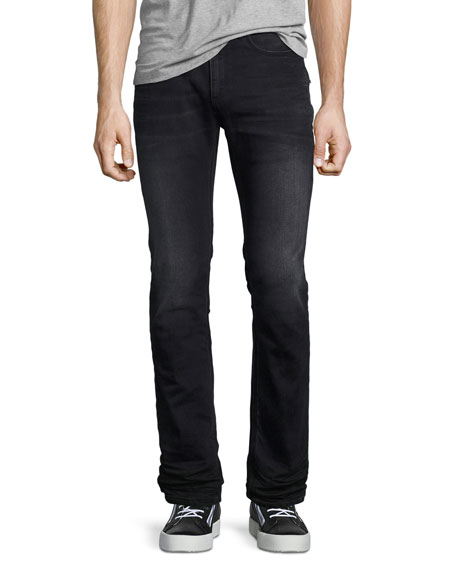 Neil Barrett Basic Slim-Straight Denim Jeans, Gray Wash
