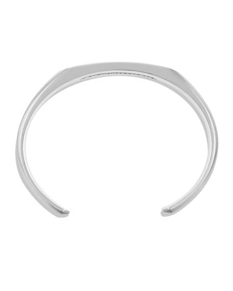 Heirloom Faceted Sterling Silver & Copper Cuff Bracelet