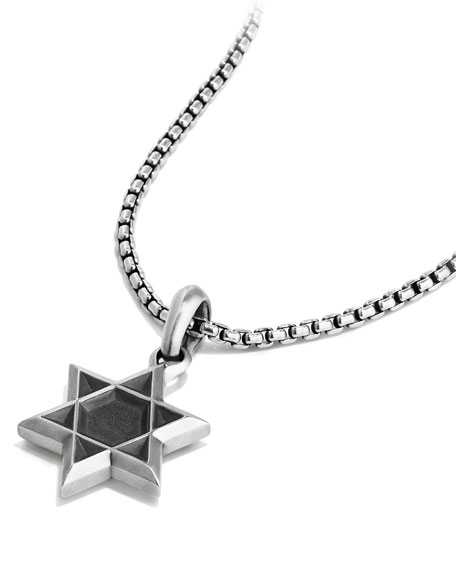 Men's 23mm Sterling Silver Star of David Amulet