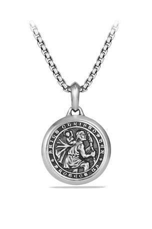 David Yurman Men's 26.5mm Sterling Silver St. Christopher Amulet