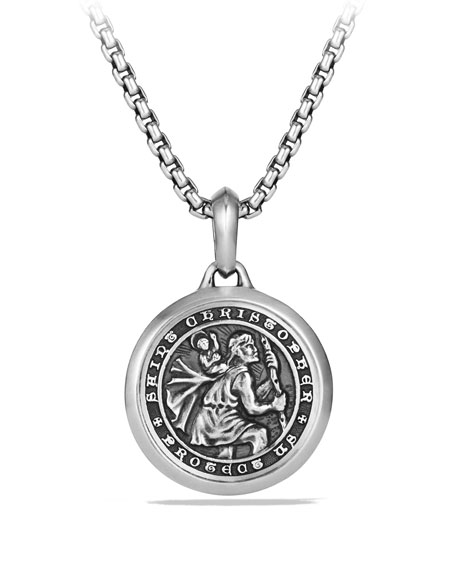 David Yurman Men's 26.5mm Sterling Silver St. Christopher