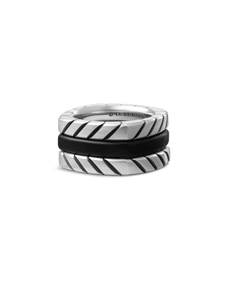 David Yurman Men's Titanium & Onyx Stack Ring,