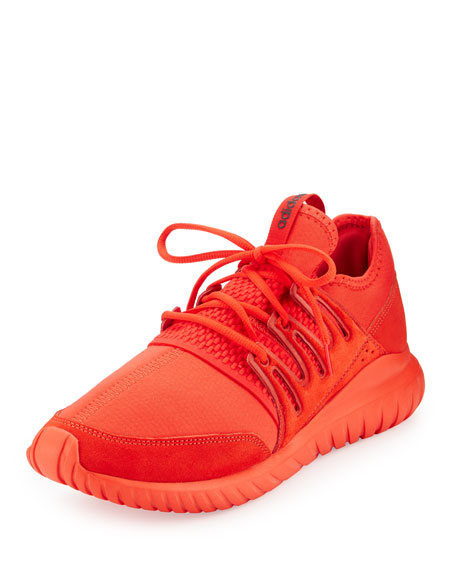Adidas Men's Tubular Radial Trainer Sneaker, Red