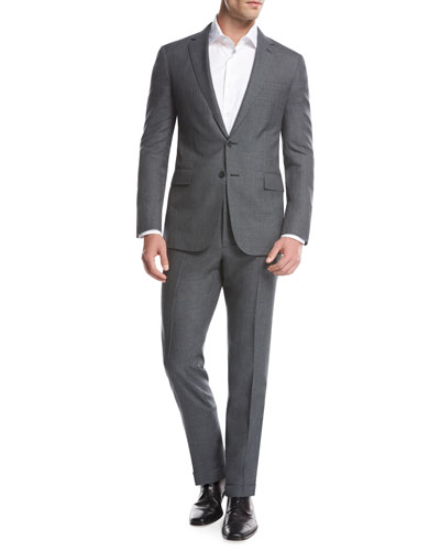 Fresco Wool Two-Piece Suit, Gray