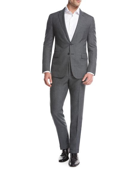 Ralph Lauren Fresco Wool Two-Piece Suit, Gray