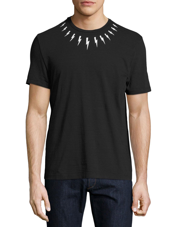 bfb8eb6d Neil Barrett Lightning Bolt T-Shirt, Black | Neiman Marcus