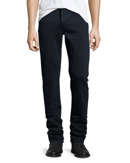 Burberry Straight-Fit Clean Wash Stretch Jeans, Dark Indigo