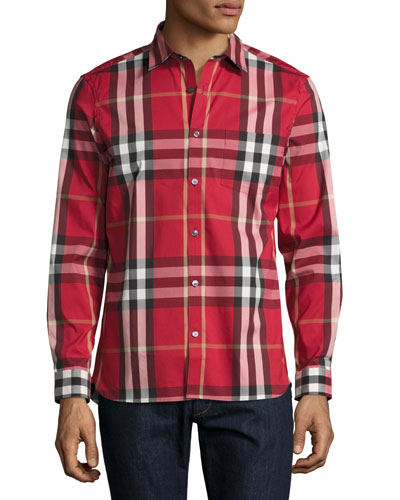 f70753378 Burberry Men S Shirts: Burberry Brit Fred Exploded Check Sport Shirt ...