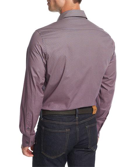 Geo-Print Cotton Shirt