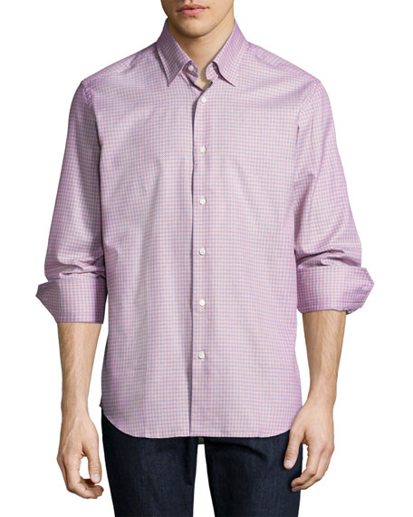 Neiman Marcus Tight Circle Sport Shirt, Orange