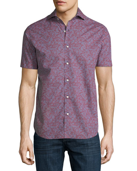 Geo-Print Short-Sleeve Shirt
