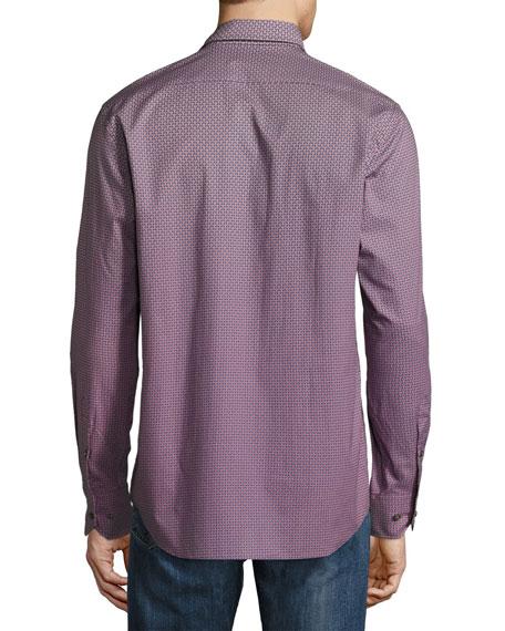 Degrade Geo-Print Sport Shirt, Orange