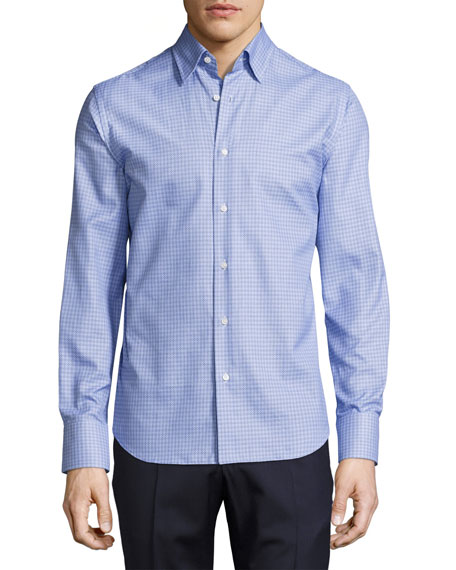Neiman Marcus Tight-Circle Sport Shirt, Blue/Navy