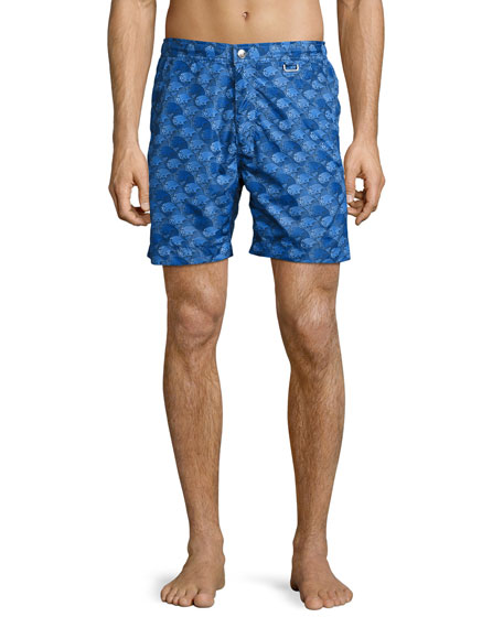 Peter Millar The Great Waves Swim Trunks, Royal