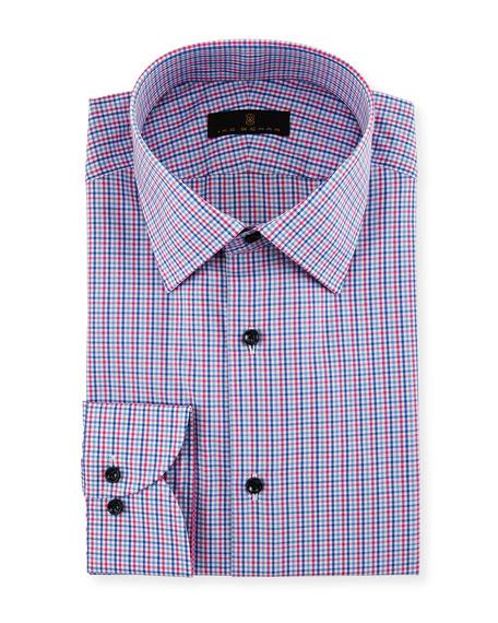 Ike Behar Gold Label Micro-Check Cotton Dress Shirt,