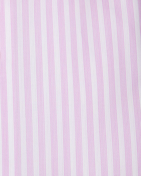 Ike Behar Gold Label Dobby-Stripe Cotton Dress Shirt