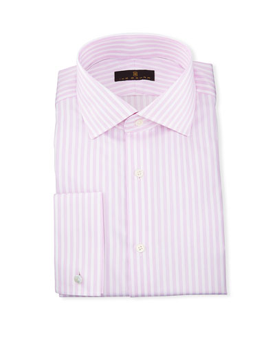 Gold Label Dobby-Stripe Cotton Dress Shirt