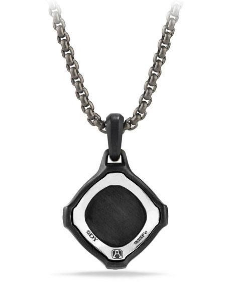 Men's 25mm Sterling Silver & Garnet Anvil Amulet
