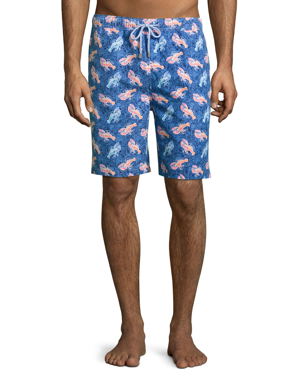 57202f9c05 Peter Millar Lobster & Seashell Swim Trunks, Dark Blue | Neiman Marcus