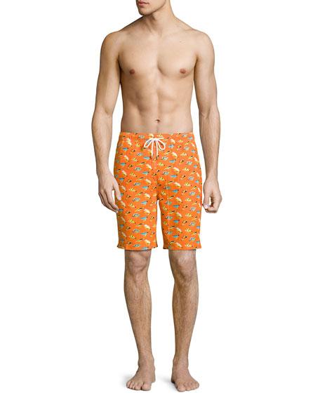 Peter millar fly fishing swim trunks orange for Fishing swim trunks
