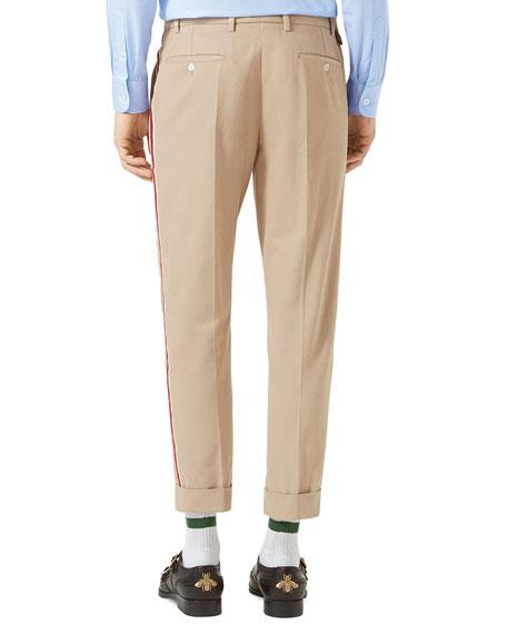 Brushed Cotton Chino Pants, Oatmeal