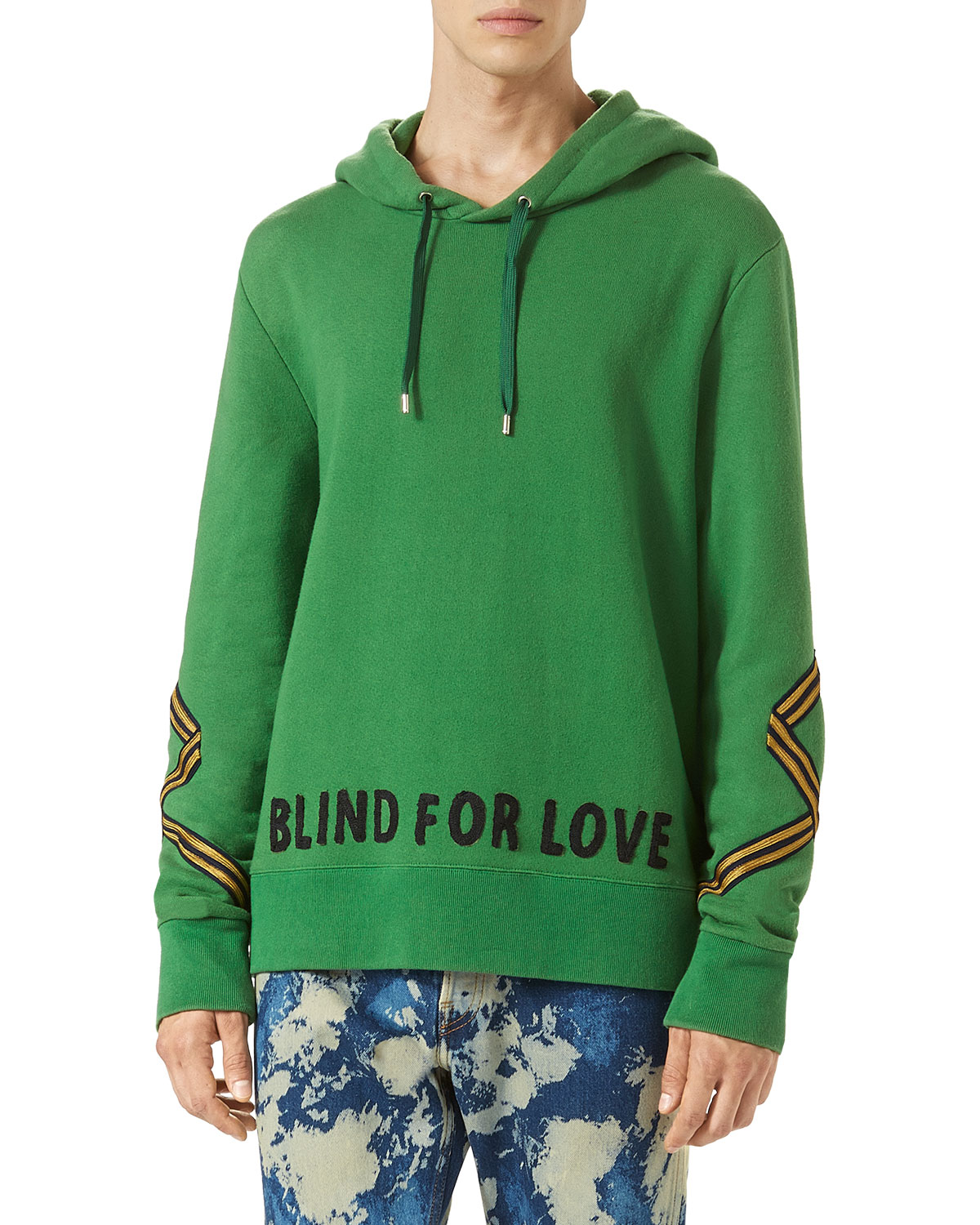 Gucci Cotton Hoodie Sweatshirt W Appliqu 233 Green Neiman