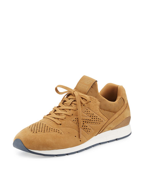 New Balance 696 Deconstructed Lace-Up Sneaker, Beige